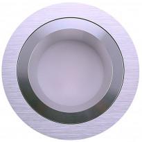 LED-alasvalo LedStore Round R023, 9W, IP54, 3000K, himmennettävä, harjattu alumiini