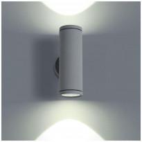 LED-ulkoseinävalaisin LedStore Wall Round Out 2, 2x3W, IP54, kahteen suuntaan, harmaa