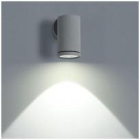 LED-ulkoseinävalaisin LedStore Wall Round Out, 3W, IP54, harmaa