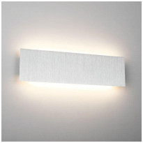 LED-seinävalaisin LedStore Wall Straight 600, 17W, IP44, harjattu alumiini