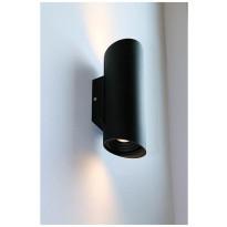 LED-ulkoseinävalaisin LedStore Viisto, 2x7W, IP55, musta