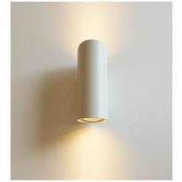 LED-ulkoseinävalaisin LedStore Viisto, 2x7W, IP55, valkoinen