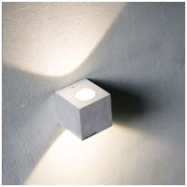 LED-seinävalaisin LedStore Wall Cubic 2, 2x3W, 3000K, kahteen suuntaan, harjattu alumiini