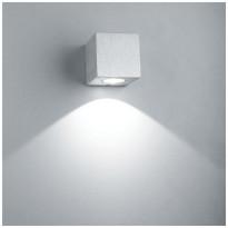 LED-seinävalaisin LedStore Wall Cubic, 3W, 3000K, harjattu alumiini
