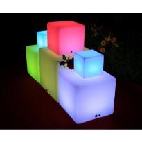 LED-valokuutio LED Box 20 3W 150lm IP65 200x200x200mm RGB+valkoinen