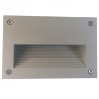 LED-seinävalaisin In-Wall Out 2 3W 3000K 200lm IP55 150x95x100mm harmaa