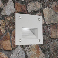 LED-seinävalaisin In-Wall Out 3W 3000K 150lm IP55 100x100x95mm harmaa
