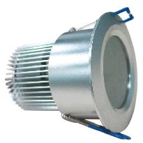 LED-alasvalo LED-023 9W 600lm IP54 Ø 80x55mm hopea