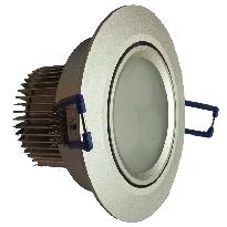 LED-alasvalo LED-033 9W 600lm Ø 90x55mm suunnattava hopea