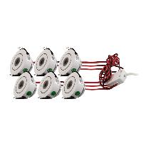 LED-alasvalosetti LED-097 6x3W 6x200lm Ø 51x30mm suunnattava valkoinen