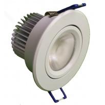 Alasvalo LED-BJ33 8W, 3000K 580lm Ø 85x55mm, suunnattava valkoinen
