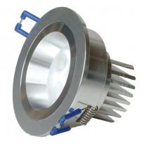 Alasvalo LED-R023 9W, 600lm IP54 Ø 90x50mm, harjattu alumiini