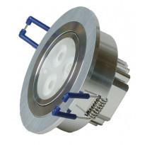 Alasvalo LED-R033 9W, 600lm Ø 90x45mm, suunnattava harjattu alumiini