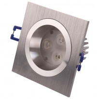 Alasvalo LED-SQ023 9W, 600lm IP54 95x95x55mm, harjattu alumiini