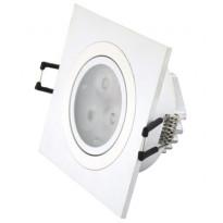 Alasvalo LED-SQ033 9W, 600lm 95x95x45mm, suunnattava valkoinen