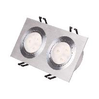LED-alasvalo LED-SQ233 2x9W 2x600lm 190x95x50mm suunnattava harjattu alumiini