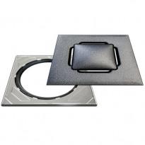Neliökansi RST Vieser Design Silver säädettävällä teräskehyksellä 197x197 mm, Verkkokaupan poistotuote