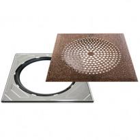 Neliökansi RST Vieser Modern Bronze säädettävällä teräskehyksellä 197x197 mm