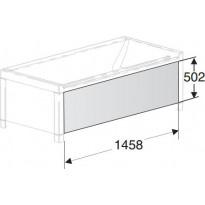 Etulevy IDO Seven D Image 1600 kylpyammeelle valkoinen
