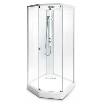 Suihkukaappi Ido Showerama 8-5 1000x1000 mm, valkoinen profiili, huurrelasi