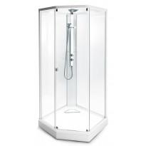 Suihkukaappi Ido Showerama 8-5 900x800 mm, valkoinen profiili, huurrelasi