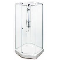 Suihkukaappi Ido Showerama 8-5 900x900 mm, mattahopea profiili, huurrelasi