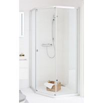 Suihkunurkka IDO Showerama 8-3 900x900 mm kiinteä lasi huurre