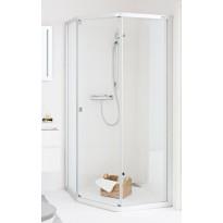 Suihkunurkka IDO Showerama 8-3 1000x1000 mm kiinteä lasi huurre