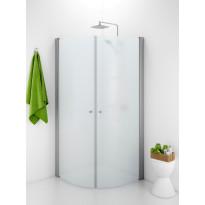 Suihkunurkka Ido Showerama 10-4, 800x800x2000 mm, huurrelasi, mattahopea profiili, nuppivedin