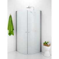 Suihkunurkka Ido Showerama 10-4, 900x800x2000 mm, huurrelasi, mattahopea profiili, nuppivedin