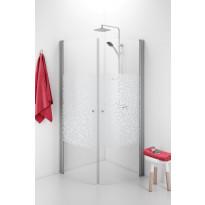 Suihkunurkka Ido Showerama 10-4, 900x900x2000 mm, kuviolasi Mosaic, mattahopea profiili, nuppivedin