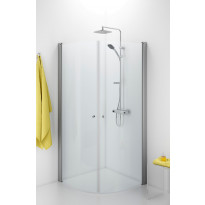 Suihkunurkka Ido Showerama 10-4, 800x800x2000 mm, kirkas lasi, mattahopea profiili, vedinaukko