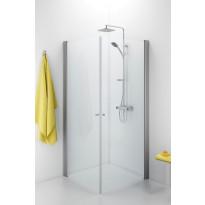 Suihkunurkka Ido Showerama 10-02, 700x1000x2000 mm, kirkas lasi, mattahopea profiili, nuppivedin