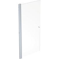 Suihkuovi Ido Showerama 10-01, 800x2000 mm, kirkas lasi, mattahopea profiili, nuppivedin