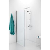 Suihkuovi Ido Showerama 10-01, 900x2000 mm, kirkas lasi, mattahopea profiili, ei vedintä/aukkoa