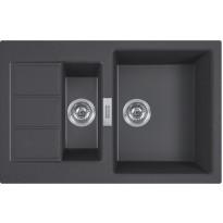 Keittiöallas Franke Sirius S2D 651-78, 780x500mm, Tectonite, musta
