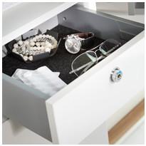 Sisätilan lukollinen laatikko Ido Glow korkealle kaapille, valkoinen