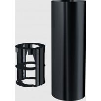 Hormin jatkokappale Franke Tube, 990mm, musta