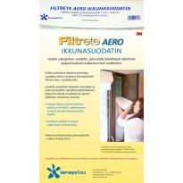 Siitepölysuodatin ikkunaan Terveysilma Filtrete Aero, tuuletusikkunaan