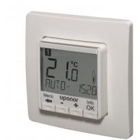 Lattiatermostaattisetti Uponor Comfort E T-87IF, 230 V, digitaaliohjauksella, Verkkokaupan poistotuote