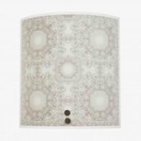 Seinävalaisin Dream XS 200x220mm, lasi valkoinen/harmaa kuvioitu