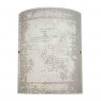 Seinävalaisin Fragment 300x380mm, lasi valkoinen/harmaa kuvioitu