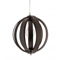 Riippuvalaisin Swing, Ø400x400mm, puu musta