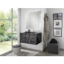 Kylpyhuoneryhmä Mimo Furniture, Diamante, 800, allaskaappi+peili, musta