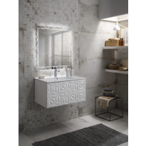 Kylpyhuoneryhmä Mimo Furniture, Diamante, 800, allaskaappi+peili, valkoinen