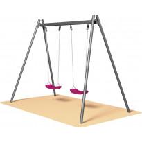 Lastenkeinu Markki, Swing 2-paikkainen, tummanharmaa