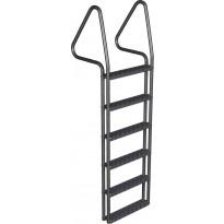 Laituritikas Markki, 6-askelmaa leveä alumiini, tummanharmaa