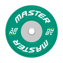 Levypaino Master Fitness Competition Bumper Plate, 10kg, vihreä