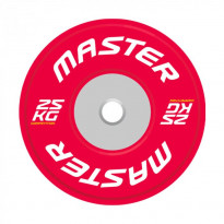 Levypaino Master Fitness Competition Bumper Plate, 25kg, punainen