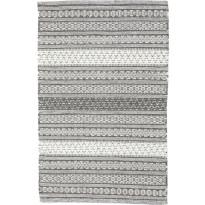 Villamatto Kuer, 60x120cm, tummanharmaa/valkoinen
